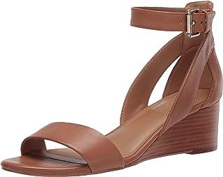 Aerosoles Women's Wedge Sandal, TAN LEATHER, 8.5 M