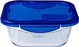 comprar comparacion Pyrex Cook & Go Recipiente Cuadrado 16X16CM 85CL con Tapa Cook&GO, Azul, 2.26 cm
