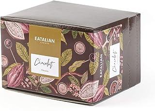 EATALIAN Cioccolata Top Classica, Preparato in Polvere per Cioccolata Calda, Box da 10 Bustine x 30 g Monodose, Made in It...