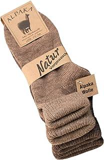 2 pares de calcetines de alpaca, para mujer, con dobladillo