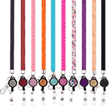 Ascrafter ID Card Lanyard Strap, Bling Crystal ID Card Holder with Bling Badge Holder, Pack of 10