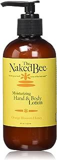 The Naked Bee Moisturizing Hand & Body Lotion, 8 Ounce, Orange Blossom Honey