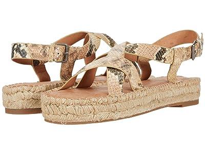 Madewell Aleh Asymmetric Espadrille Sandal (Blush Multi) Women