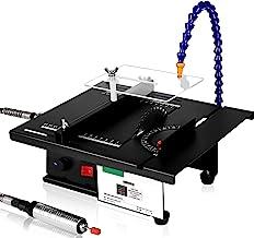 Mini sierra de mesa, multifuncional, portátil, 1800 W, ángulo ajustable, sierra de banco eléctrica, herramientas de pulido para carpintería, plástico, corte acrílico