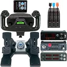 Logitech G Saitek PRO Flight Bundle (Yoke System, Rudder Pedals, Radio Panel, Switch Panel, Multi Panel, Instrument Panel)(Renewed)