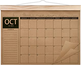 2019-2021 Calendar - 18 Monthly Academic Desk or Wall Calendar Planner, Thick Kraft Paper Perfect for Organizing & Planning, October 2019 - March 2021, 12.2