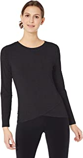 Amazon Essentials Studio Long-Sleeve Lightweight Cross-Front T-Shirt Donna