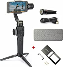 Zhiyun Smooth 4 3 Axis Handheld Gimbal Stabilizer for Smartphone Like iPhone X 8 7 6 Plus Samsung Galaxy S9 S8,GoPro Hero 6 5,SJCAM Xiaomi,12H Runtime(Smooth Q Upgrade Version + Action Camera Mount)