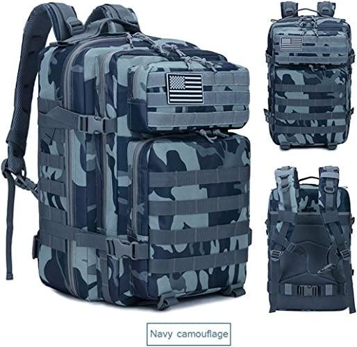 Dxyap 45L étanche Sac à Dos Compact Assault Pack Hommes Femme Différentes Couleurs Multifonctionnelle Adulte Sacs à Dos Trekking Randonnée en Plein Air