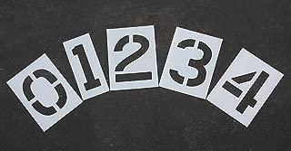 Parking Lot Pavement Stencils - 12 in - Number KIT Stencil Set - 1/16