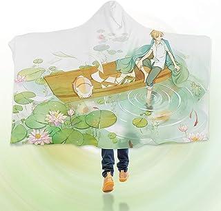 "AJ WALLPAPER 3D Natsume 147 Hooded Blanket Cloak Japan Anime Japanese Cosplay Game US Onion (S:150x110cm(59""x43""))"