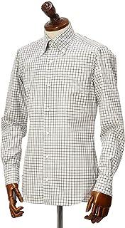 BARBA【バルバ】ドレスシャツ BRK I1U242U07541X フラシ コットン タッタソールチェック ブラウン×ブルー