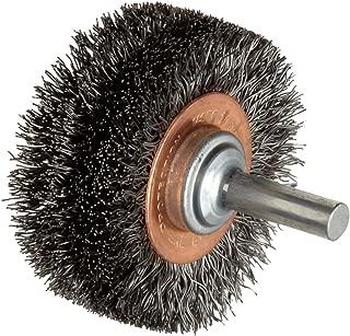 Weiler Wide Face Wire Wheel Conflex Brush, Round Shank, Steel, Crimped Wire, 2