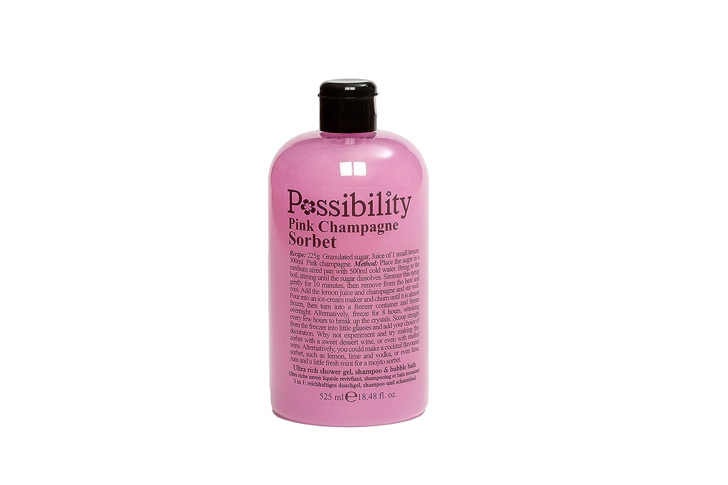 引き出す商業の大いにPossibility(ポッシビリティ) ウルトラリッチ3イン1ジェル ボディソープ?シャンプー?バブルバス ピンクシャンパンソルペ