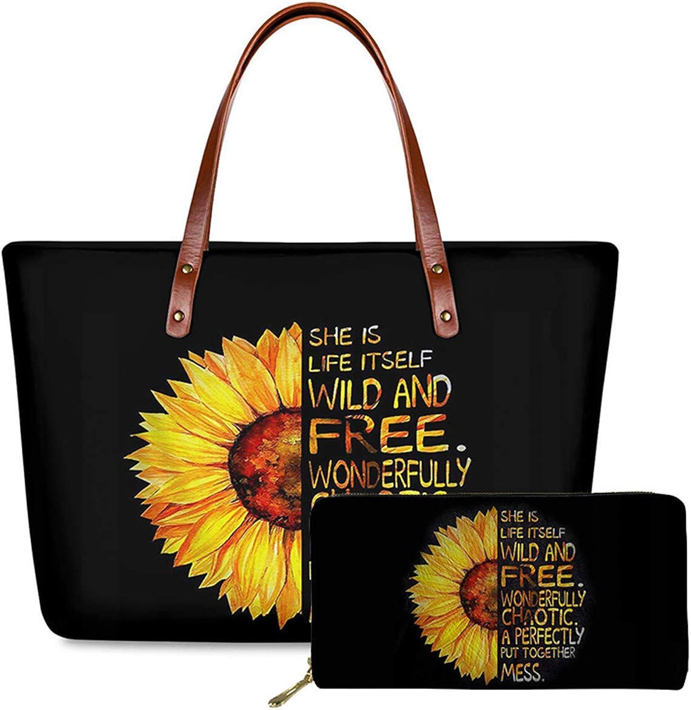 2021 model Qingeng Sunflower Top-Handle Sales of SALE items from new works Handbag Waterproof Totes B Neoprene
