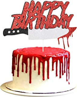 Halloween Horror Birthday Party Cake Topper, Friday the 13th Birthday Party Cake Topper, Have a Killer Birthday Party Deco...