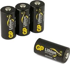 GP Batterien CR123A Lithium 3V Schwarz-Gold (4 Stück) 3 Volt für Smart Home, Alarmanlagen, Taschenlampen, etc.