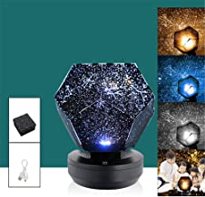Science Museum Star Lamp Projector, 60,000 Stars Original Home Planetarium Caronan, 3 modos coloridos con cable USB, star Night Light for Kids - Christmas Best Gifts for Kids