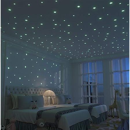 234Pcs Stickers Etoile Fluorescente Sticker Lumineux Chambre Pour Décoration Maison ou Plafond Fluorescent, Parfait Cadeau d'anniversaire