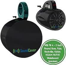 Two Sun Sand & Water Resistant Marine Boat Speaker Covers for 8 Inch Round Marine Power Boat ATV Wakeboard Tower Speakers – Bags fit Boss Audio, MCM Custom Audio, Rockville Marine Speakers