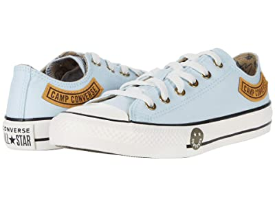 Converse Kids Chuck Taylor(r) All Star(r) Camp Ox (Little Kid/Big Kid) (Agate Blue/Khaki/Vintage White) Boy