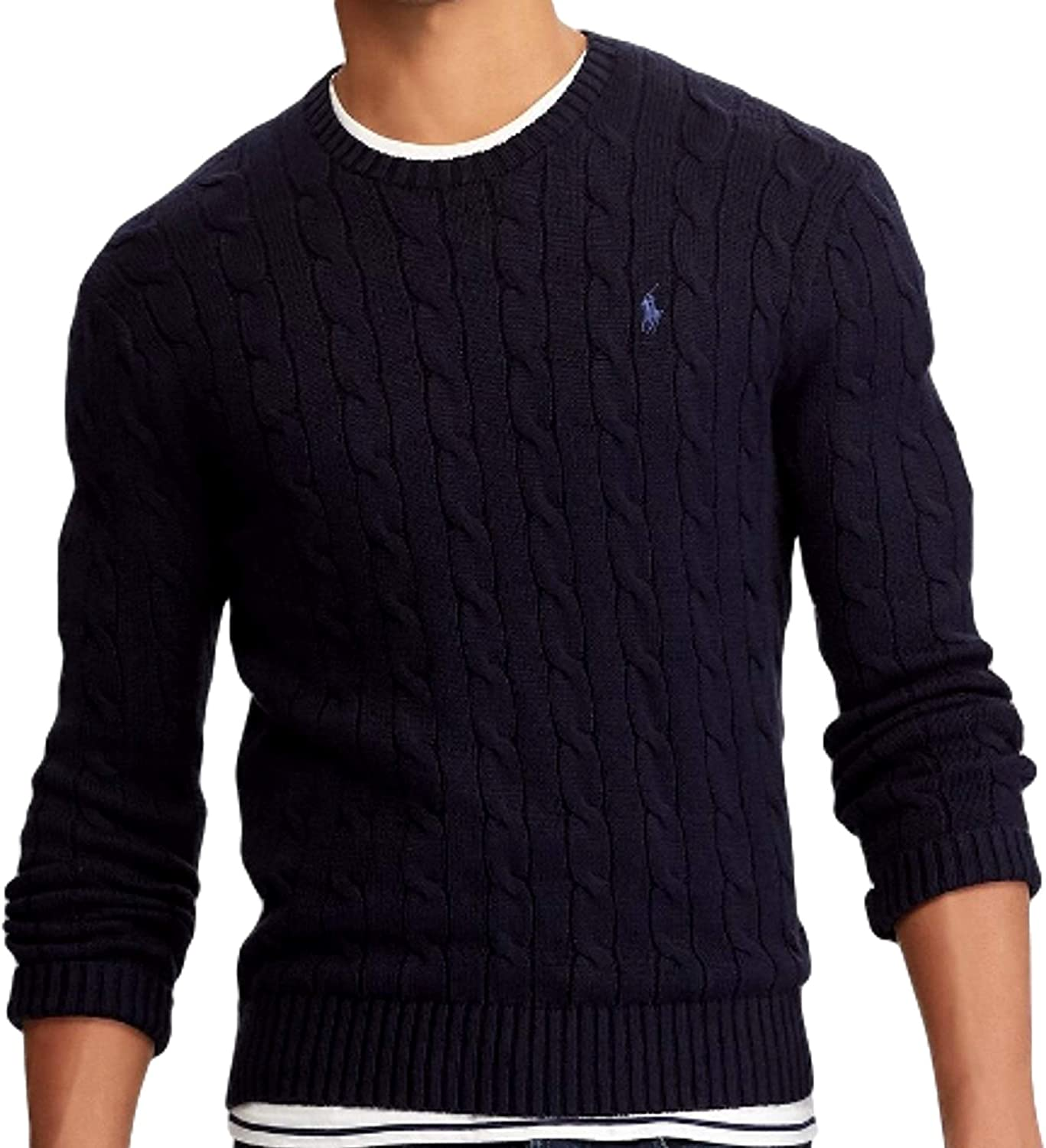 Polo RL Men's Cable Knit Pullover Sweater
