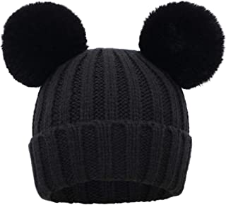 Kids Girls Boys Winter Pompom Knit Ski Beanie Hat Cap