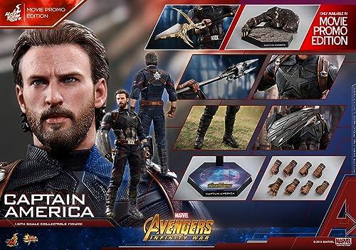Disfruta de un 50% de descuento. Hot Toys Movie Masterpiece Masterpiece Masterpiece - Avengers Infinity War - Captain America Movie Promo Edition  marca en liquidación de venta