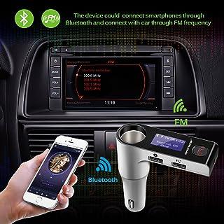 $24 » G7S Bluetooth Car Kit Music Player FM Transmitter Modulator with 3.1A Dual USB Car Charger & Cigarette Lighter Socket Supp...