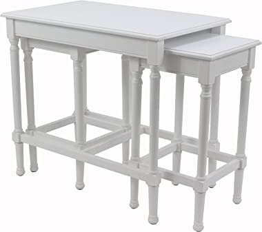 Decor Therapy Nesting Tables, Pure White