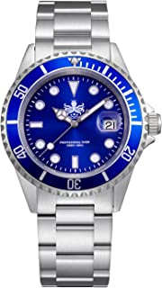 Phoibos Men's PX002B 300M Dive Watch Swiss Quartz Blue Sport Watch