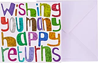 J&G Greeting Cards Wishing You Many Happy Returns Card - Multi Color