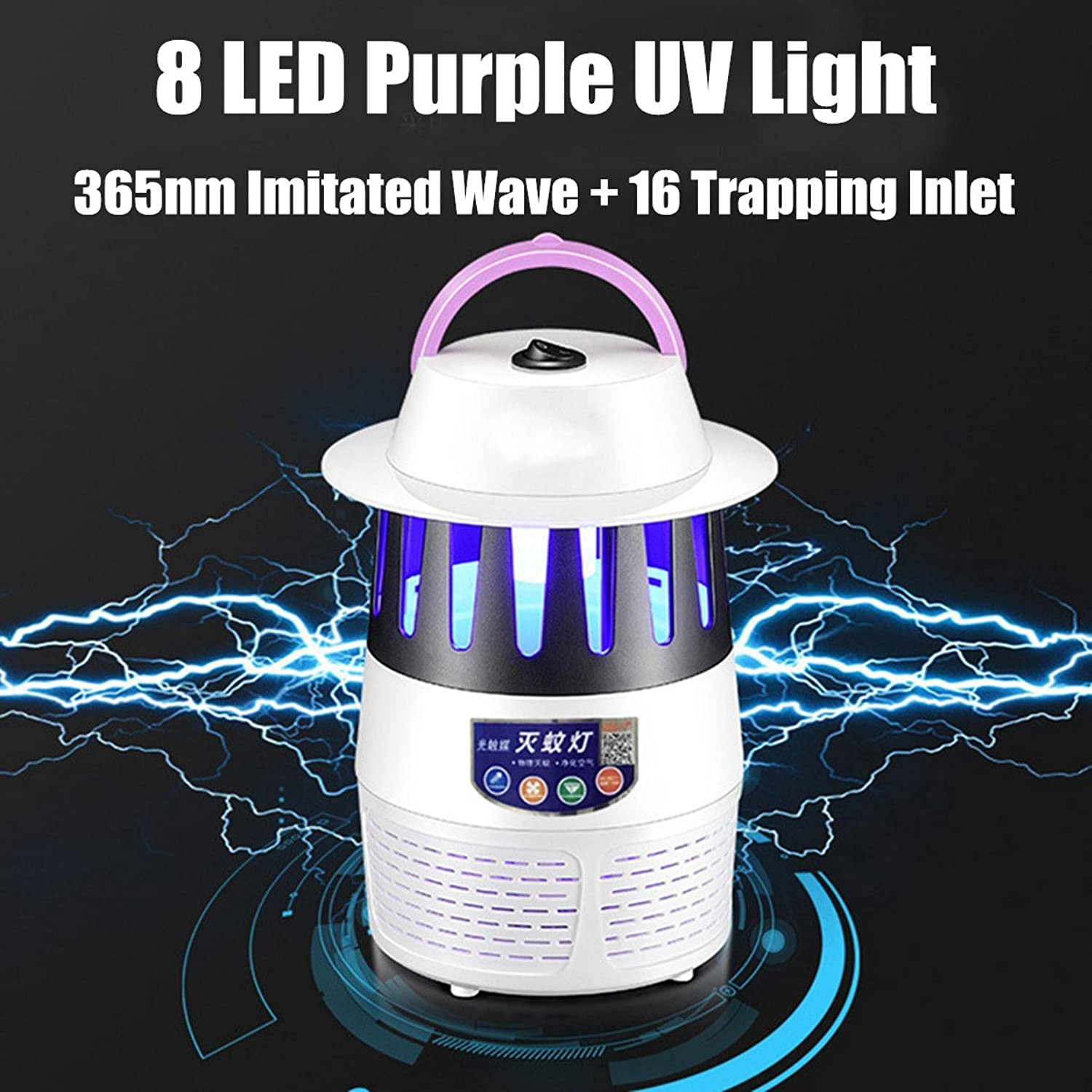 USB LED Electric Insect Killer UV Mosquito Fly Bug Zapper Catcher Traps Light Home Garden Pest Control Supplies Accessories