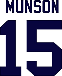 Thurman Munson New York Yankees Jersey Number Kit, Authentic Home Jersey Any Name or Number Available