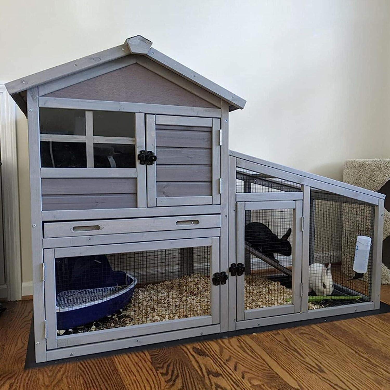 Amazon.com Rabbit Hutch Bunny Cage Indoor Outdoor Rabbit House ...