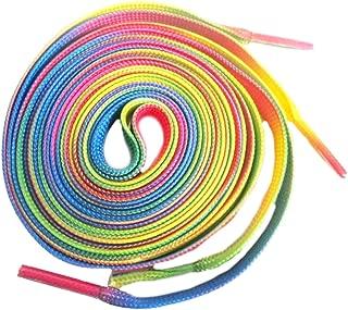 neon rainbow shoelaces