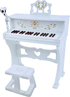 COLOR TREE Kids Electronic Keyboard Piano with Bench and Mic