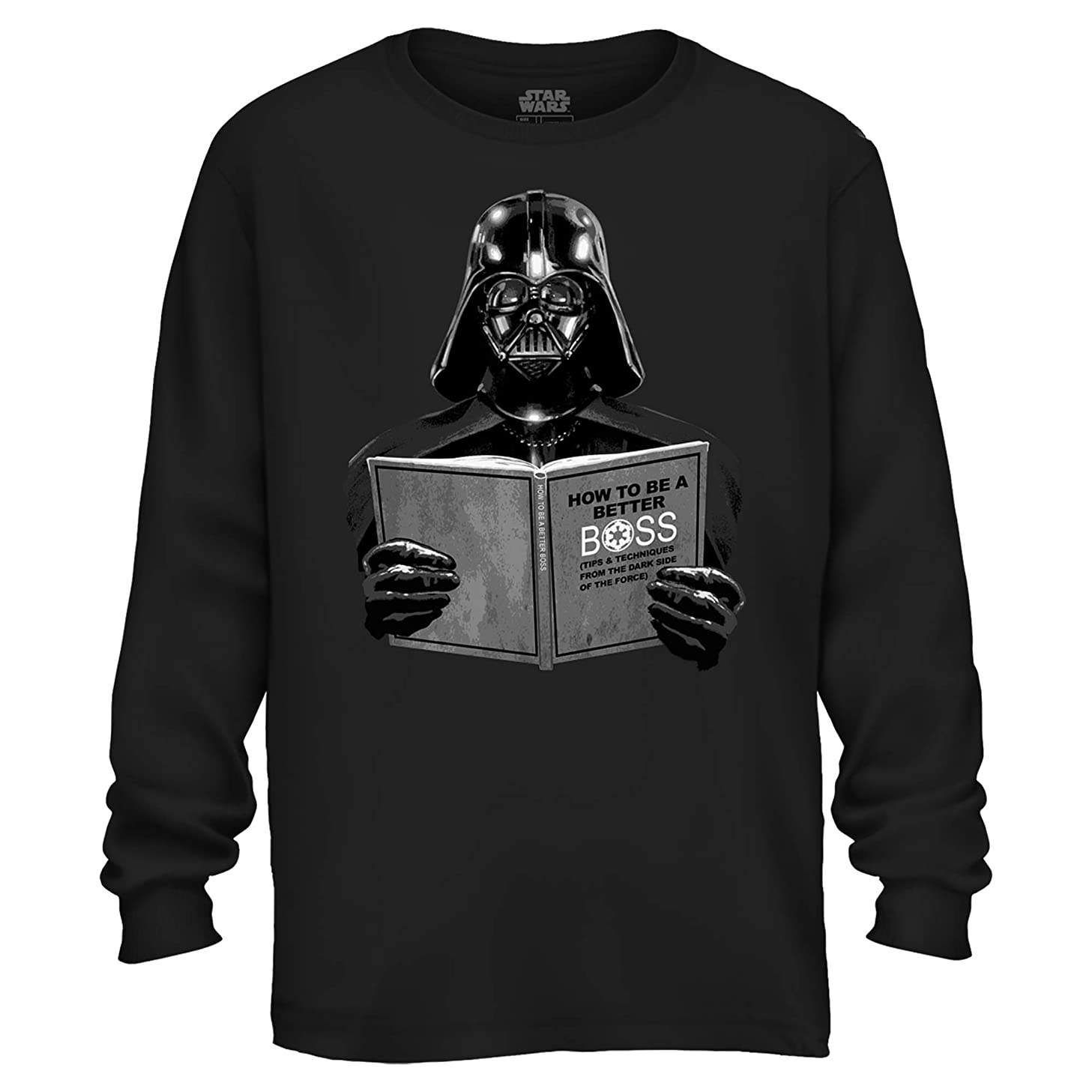 Star Wars Darth Vader Dark Side Empire Funny Humor Pun Adult Men's Graphic Long Sleeve Shirt