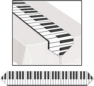 Club Pack of 12 Printed Piano Keyboard Table Runner 6&#3