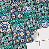 Sticker carrelage Autocollant Cuisine et Salle de Bain I Carreau de Ciment adhesif - Stickers Carreaux muraux I Carrelage Autocollant - Design Mosaïque Turque - 15x15 cm - 9 adhésives carrelage