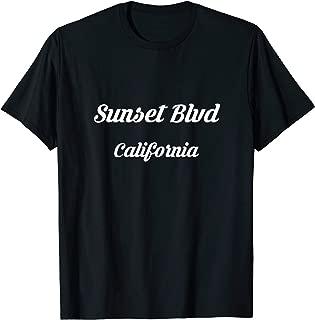 Sunset Boulevard Blvd California CA Tourist Souvenir Trip T-Shirt