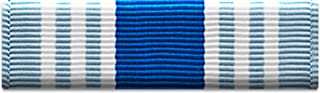 Slide-on Ribbon with Mounting bar: AIR FORCE OVERSEAS SERVICE RIBBON (LONG TOUR)