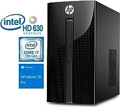 HP 460 Desktop Computer, Intel Quad-Core i7-7700T 2.9GHz Upto 3.8GHz, 16GB RAM, 512GB SSD, DVDRW, HDMI, VGA, Wi-Fi, Bluetooth, Windows 10 Pro