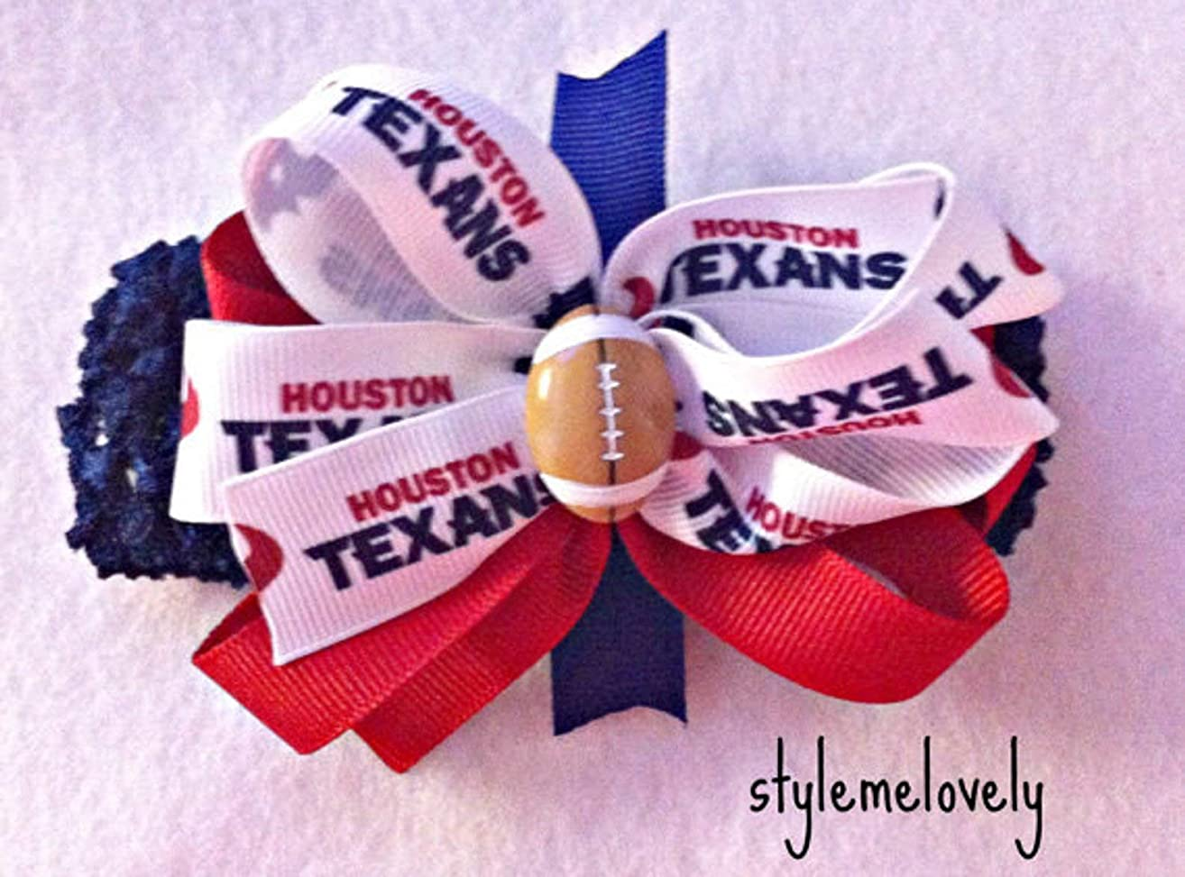 Houston Texnas Baby Girl Boutique Bow Crocheted Headband