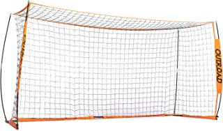 Outroad Portable 12x6 Soccer Goal for Backyard, Metal Basic Soccer Net for Practice, Goal Post for Soccer with Carry Bag,(Orange)