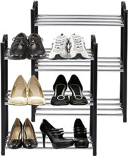 Laigoo 3-Tier Small Shoe Rack, Lightweight Shoe Organizer for Closet/Entryway/Hallway, 6 Pair Shoe Storage Shelf, Vertical...