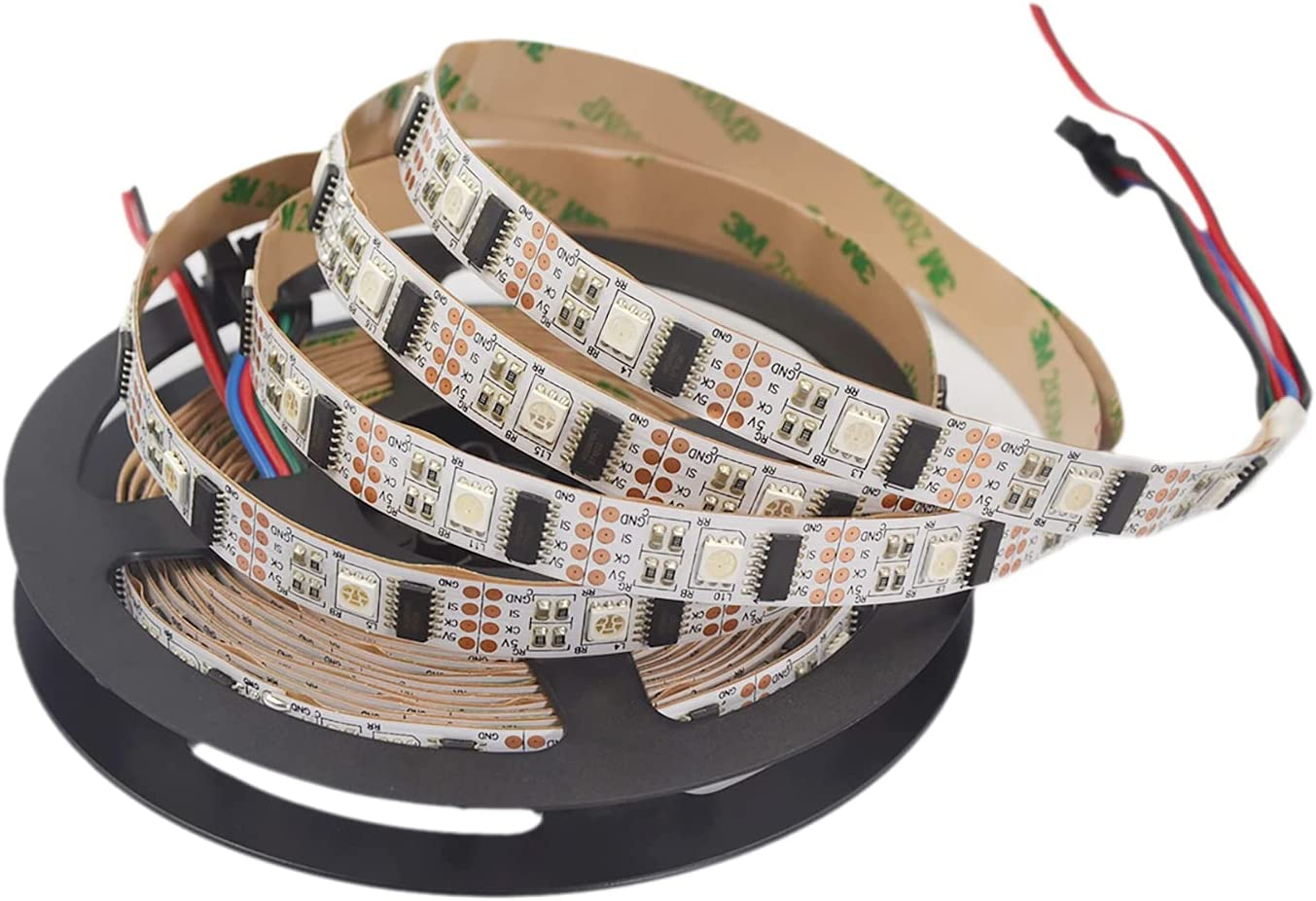 HKBAYI 5M 16.4F 5V WS2801 addressable LED Magic RGB Color Dream Bombing free shipping Be super welcome