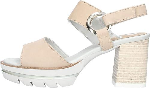 CALLAGHAN 99112 Sandalias de mujer zapatos de tacón de Cuero negro