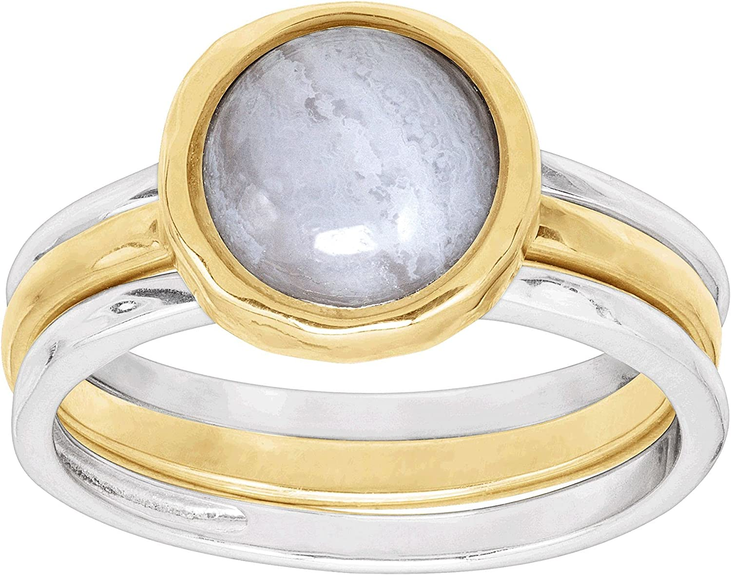 Silpada 'in Good Campanile' Limited time for free shipping Stacking Sale special price Natural with Blue Rings Lac