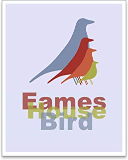 Midcentury Modern Decor - Modern Art Print - Eames House Bird - 8x10 Print - UNFRAMED